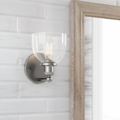 Evelyn 1-Light Brushed Nickel Wall Sconce
