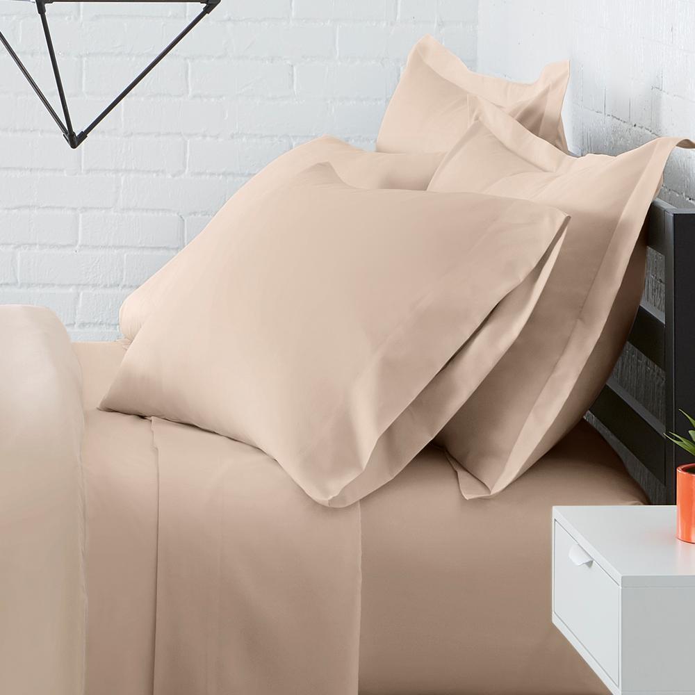 Solid Brushed Soft Microfiber Duvet Cover Set
