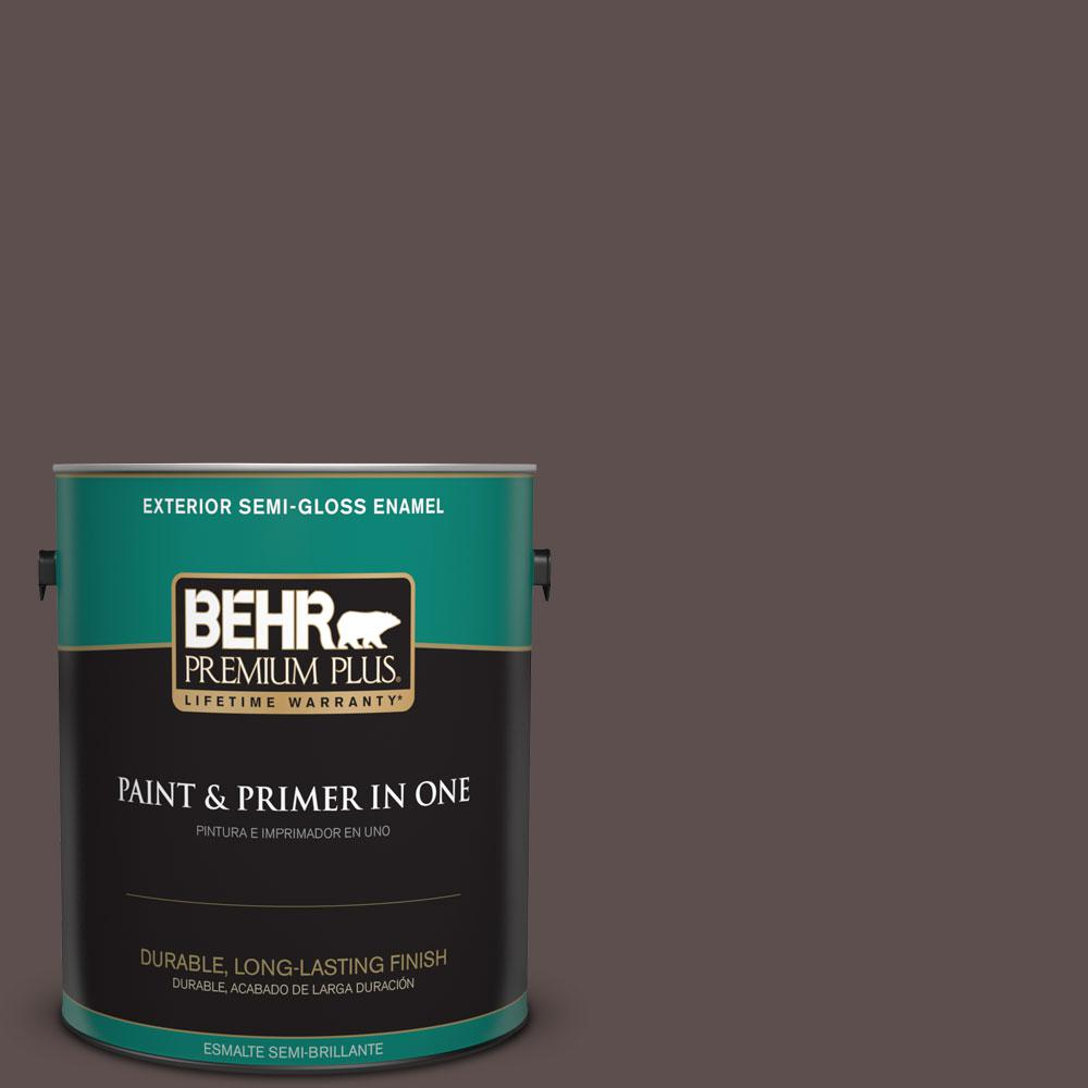 BEHR Premium Plus Home Decorators Collection 1 gal. #HDC-AC-07 Oak Creek Semi-Gloss Enamel Exterior Paint