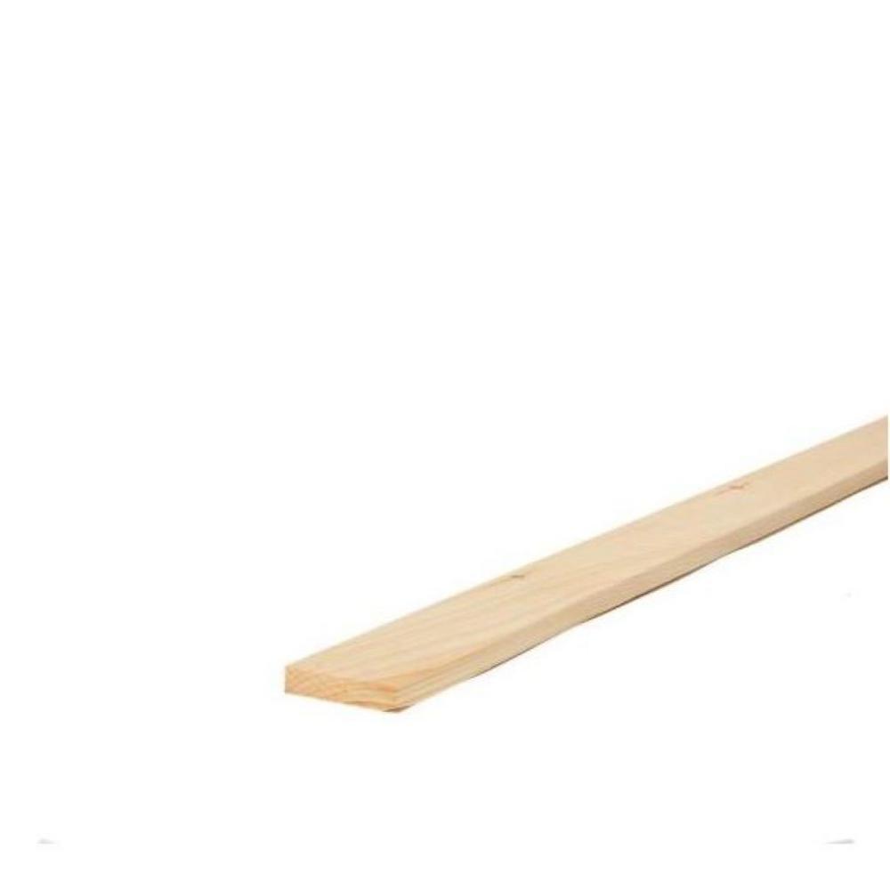 1 in. x 2 in. x 8 ft. Premium Kiln-Dried Square Edge Whitewood Common Board