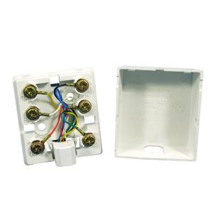 Leviton 6P6C Surface Mount Phone Jack, White by Leviton