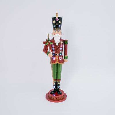 52 in H Battery-Operated Ourdoor Metal Toy Solidier with Lights