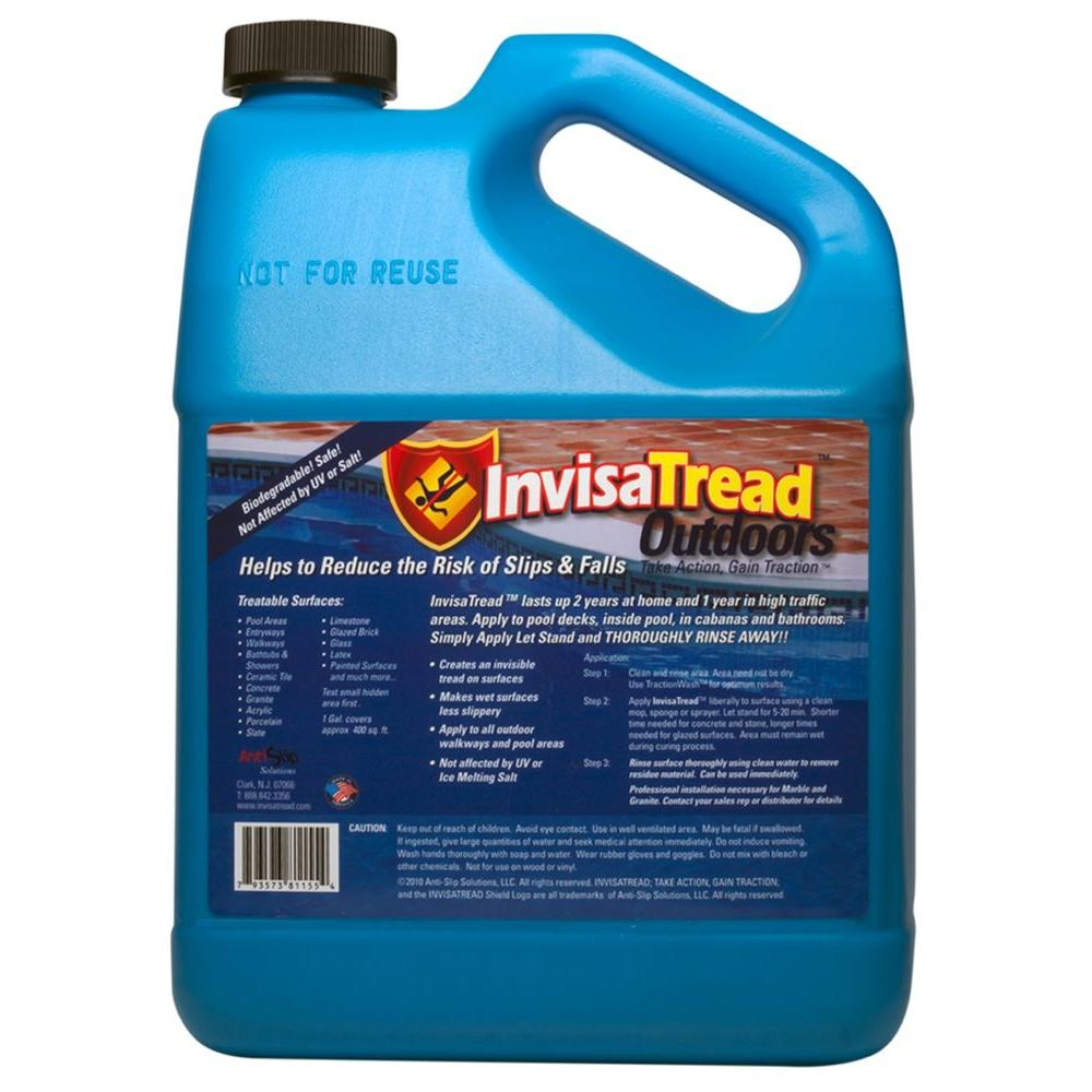 InvisaTread 1 Gal. Slip Resistant Treatment for Tile and Stone Outdoors