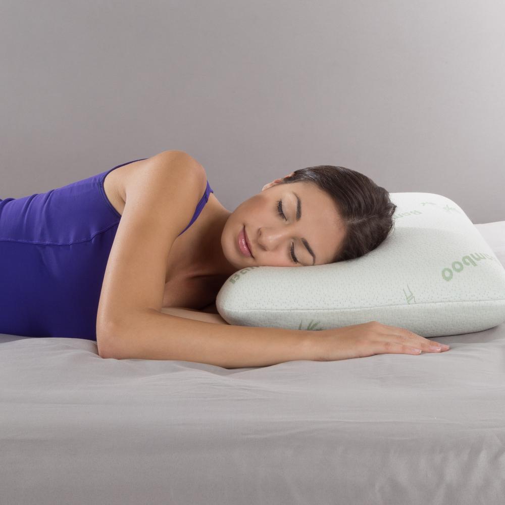 Ventilated Bamboo Fiber Cover Memory Foam Standard Pillow