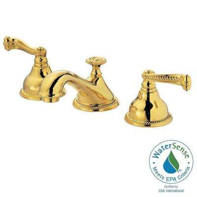 5000 Series 8 in. Widespread 2-Handle Low-Arc Bathroom Faucet in Polished Brass