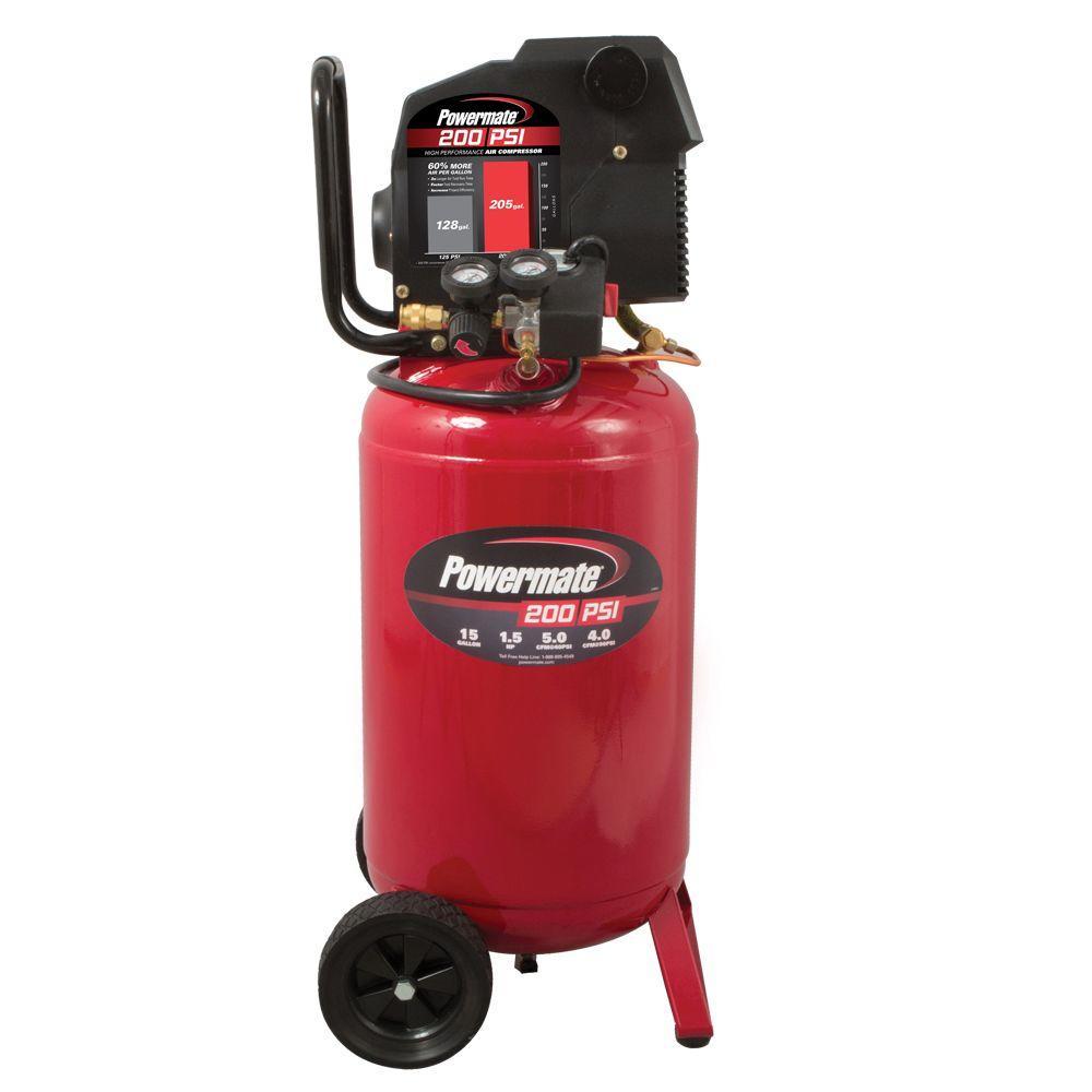 Powermate 15 Gal. 200 psi Portable Electric Air Compressor