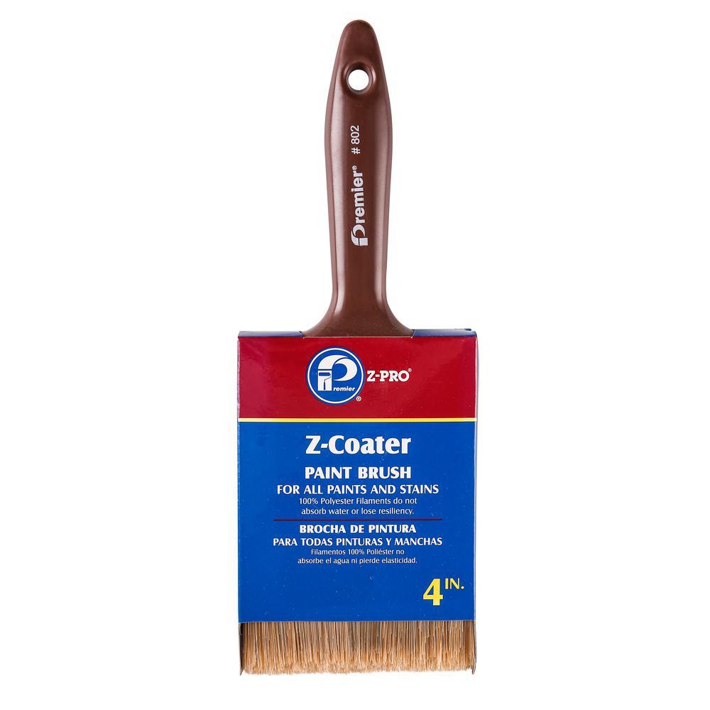 4 inch Flat Blended Polyester Paint Brush (12-Pack)
