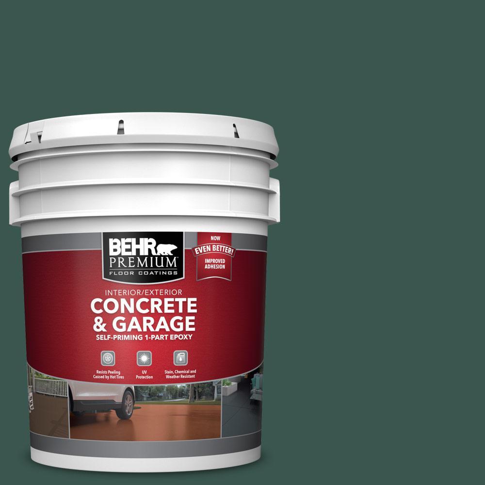 5 gal. #PFC-45 Patio Green Self-Priming 1-Part Epoxy Satin Interior/Exterior Concrete and Garage Floor Paint