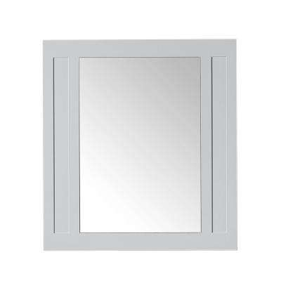 Aberdeen 33 in. W x 36 in. H Wall Mirror in Dove Grey