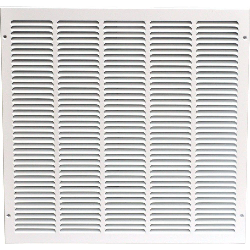 SPEEDI-GRILLE 20 in. x 20 in. Return Air Vent Grille, White with Fixed Blades