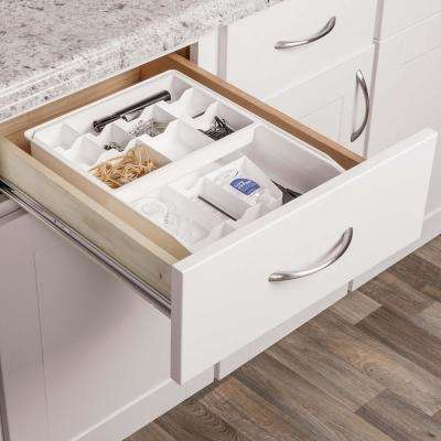 White 2-Tier Drawer Organizer