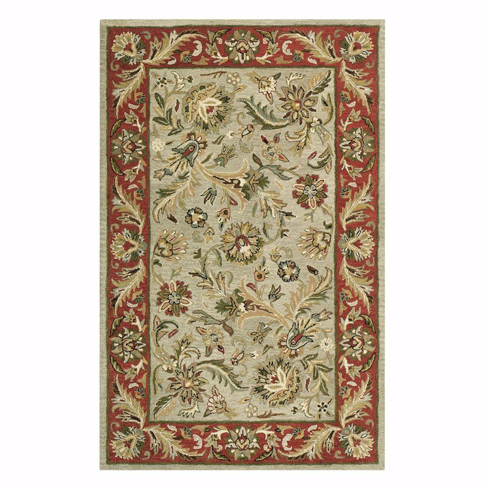 Home Decorators Collection Dudley Sage/Rust 7 ft. 6 in. x 9 ft. 6 in. Area Rug