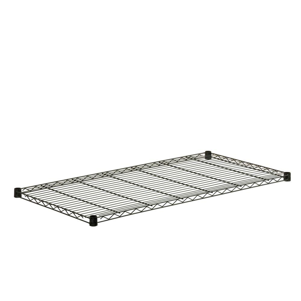 Honey-Can-Do 24 in. x 48 in. Steel Shelf in Black
