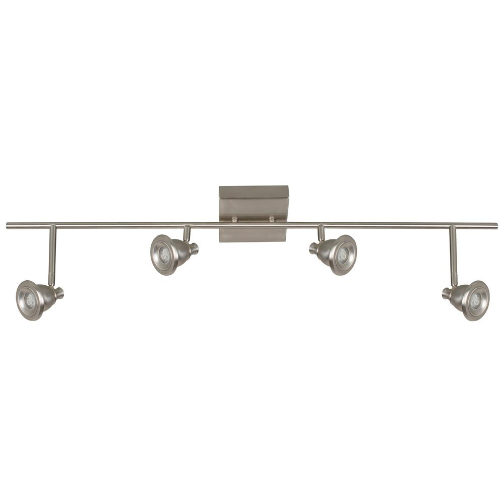 Bella 3 ft. 4-Light Satin Nickel Integrated LED Track Lighting Kit