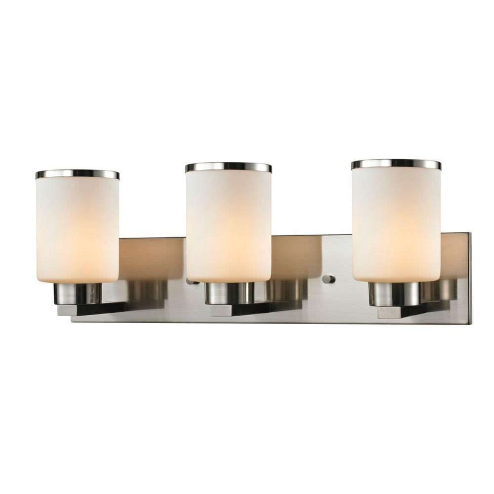 Empire 3-Light Brushed Nickel Bath Vanity Light