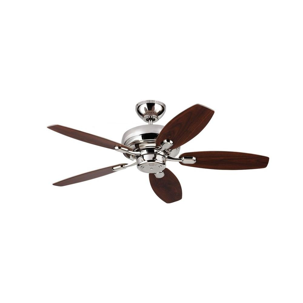 Monte Carlo Centro Max II 44 in. Polished Nickel Silver Ceiling Fan