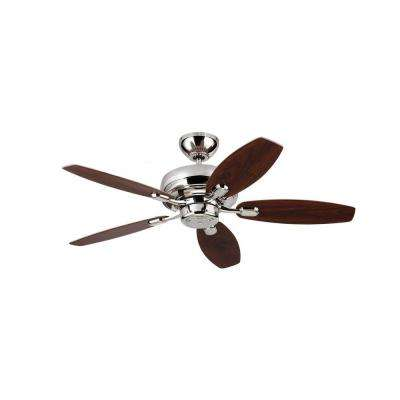 Centro Max II 44 in. Polished Nickel Silver Ceiling Fan
