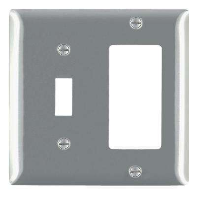 302 Series 2-Gang Toggle/Decorator Combination Wall Plate in Stainless Steel