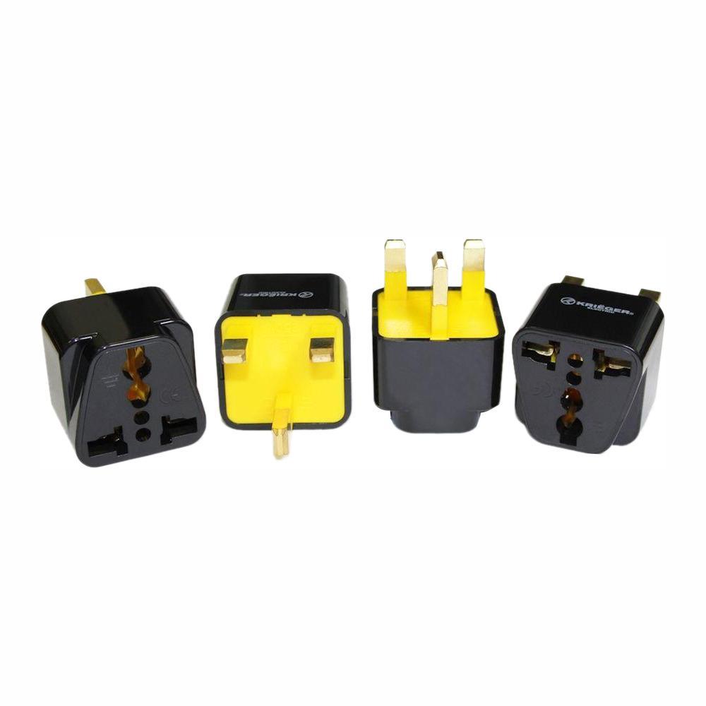 Krieger Universal to British Plug Adapter (4-Pack)
