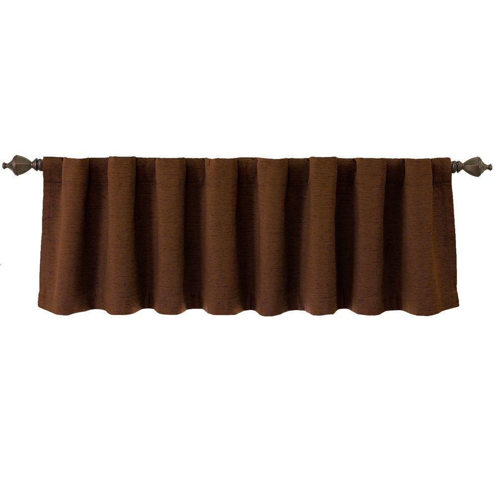 Beautyrest National Sleep Foundation Room Darkening 18 in. L Polyester Valance in Chocolate