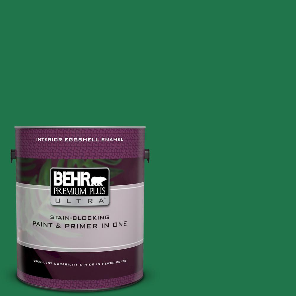 BEHR Premium Plus Ultra 1 gal. #460B-7 Pine Grove Eggshell Enamel Interior Paint and Primer in One
