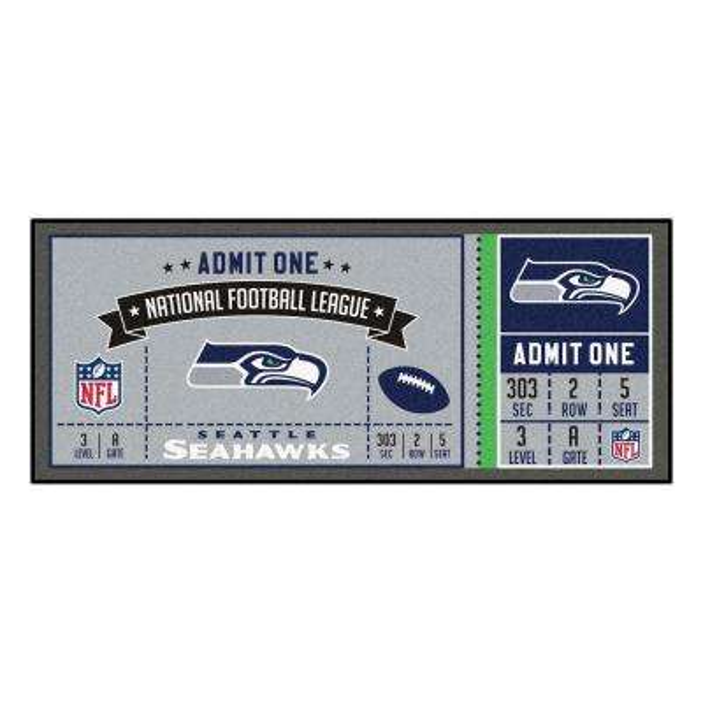 NFL - Seattle Seahawks 30 in. x 72 in. Indoor Ticket Runner Rug