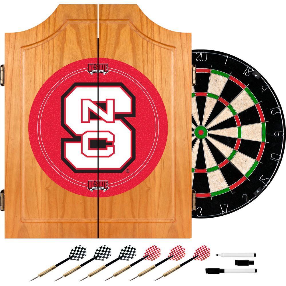 Trademark North Carolina State Wood Finish Dart Cabinet Set