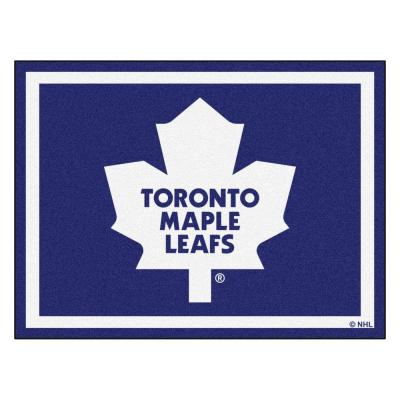 NHL Toronto Maple Leafs Navy Blue 8 ft. x 10 ft. Indoor Area Rug