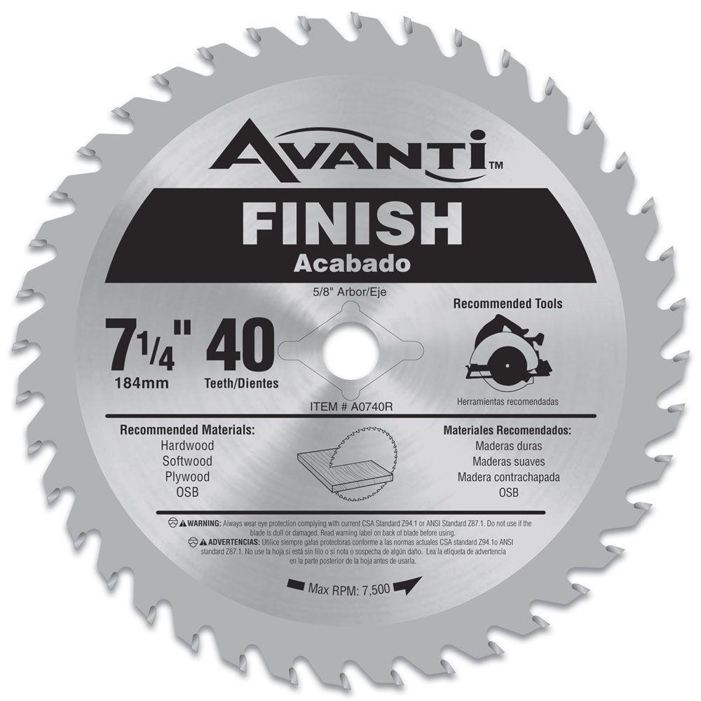 Avanti 7-1/4 in. x 40-Teeth Finish Saw Blade