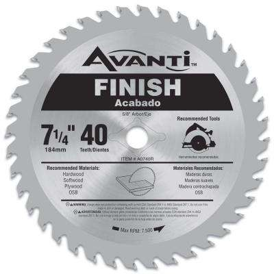 7-1/4 in. x 40-Tooth Finish Saw Blade