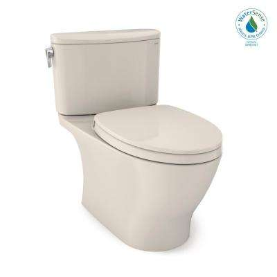 Nexus 2-Piece 1.28 GPF Single Flush Elongated Universal Height Toilet with CEFIONTECT in Sedona Beige, Seat Included
