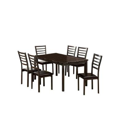 Colman 60 in. Black Contemporary Style Dining Table