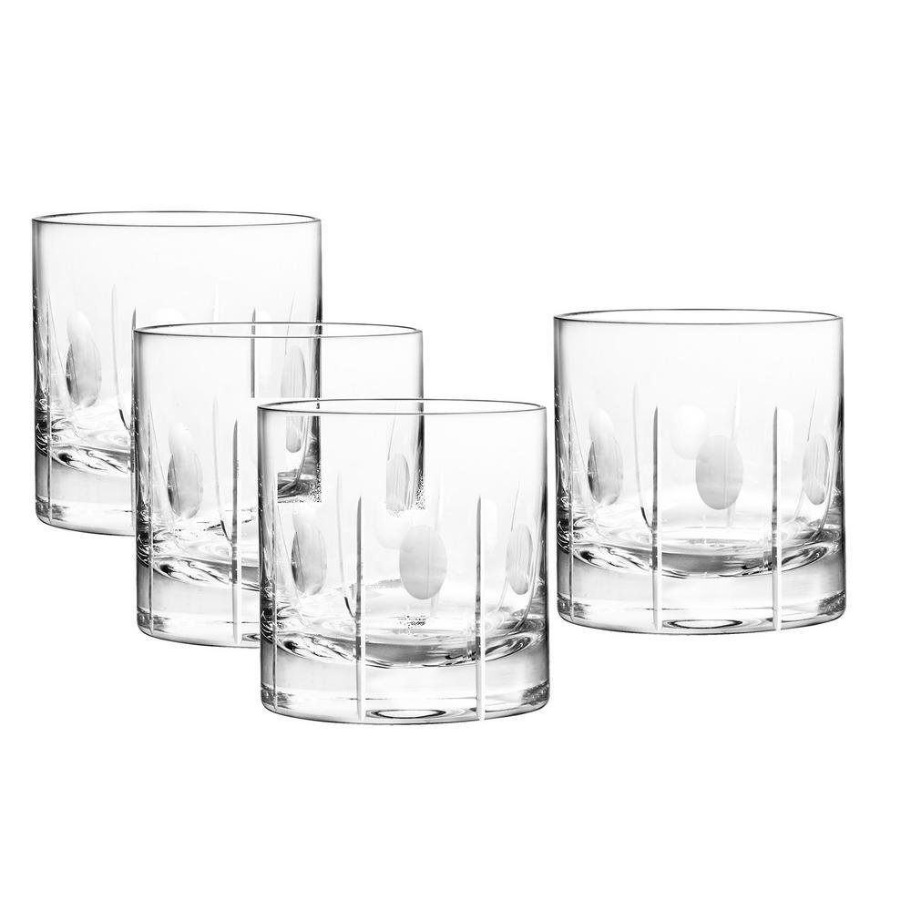 Gulfstream 14 oz. Double Old Fashioned Glass (4-Piece Set)