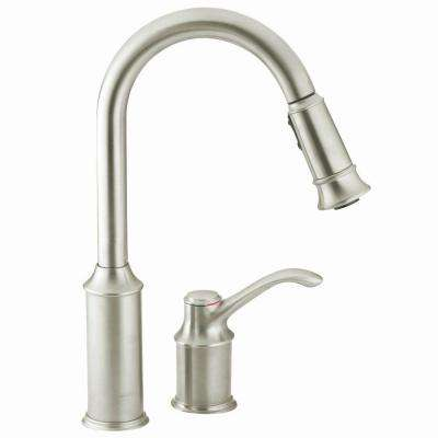 Aberdeen Single-Handle Pull-Down Sprayer Kitchen Faucet with Reflex in Classic Stainless