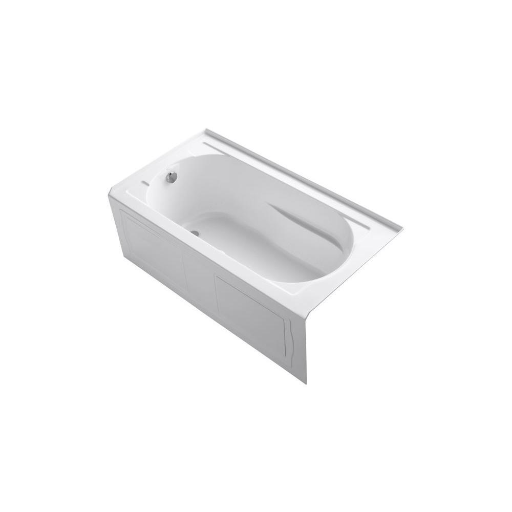 KOHLER Devonshire 5 ft. Air Bath Tub in White-K-1357-GLAW-0 - The ...