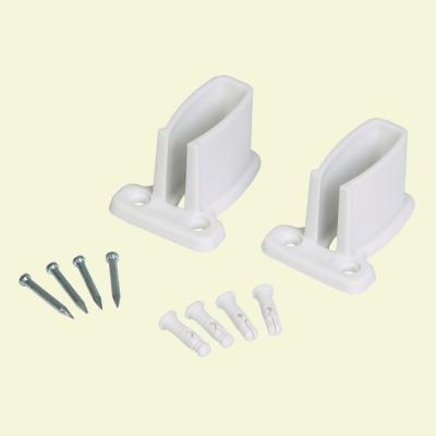 Preloaded Wall Brackets for SuperSlide Ventilated Wire Shelving (2-Pack)