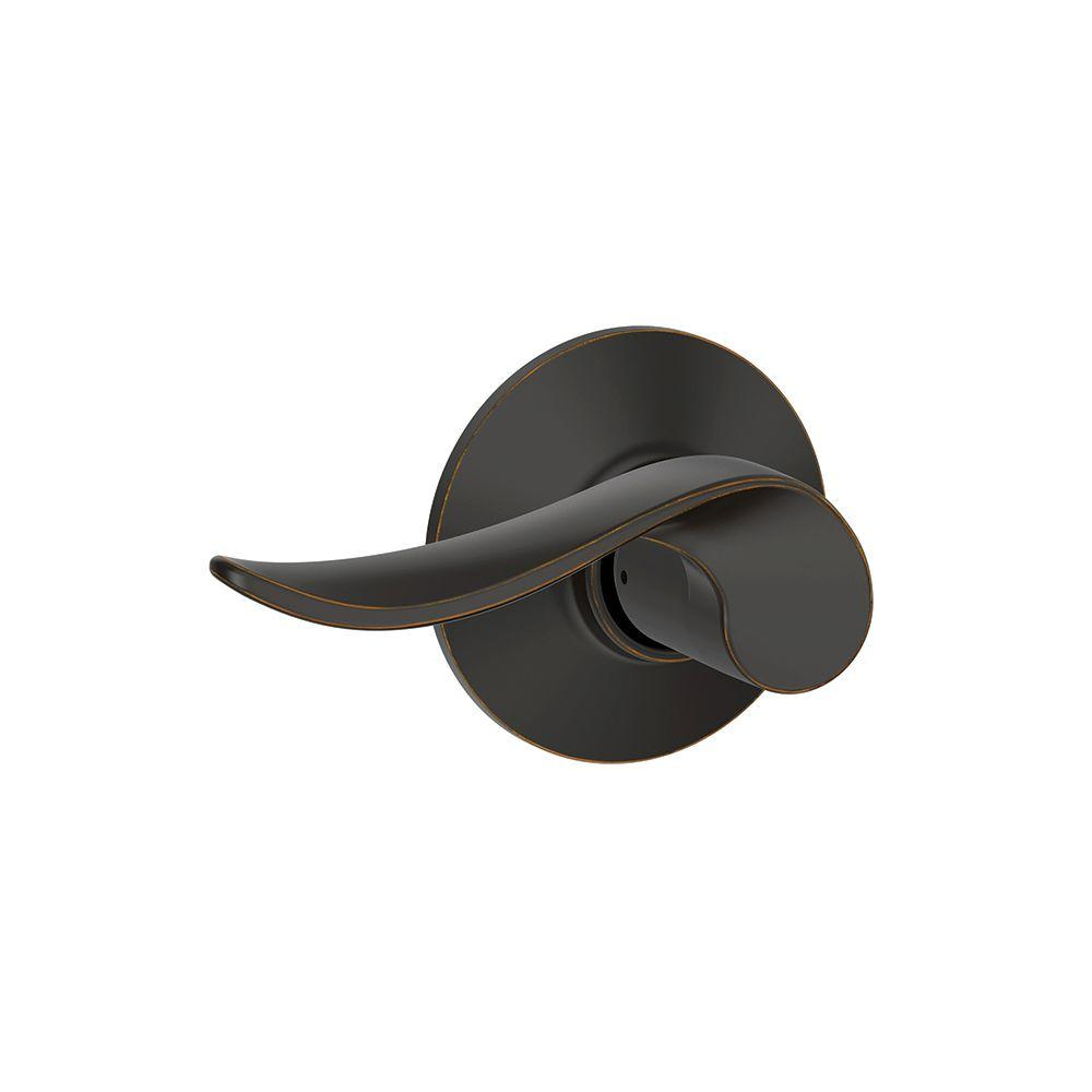Schlage Sacramento Aged Bronze Passage Hall/Closet Door Lever  sc 1 st  The Home Depot & Schlage Sacramento Aged Bronze Passage Hall/Closet Door Lever-F10 ...
