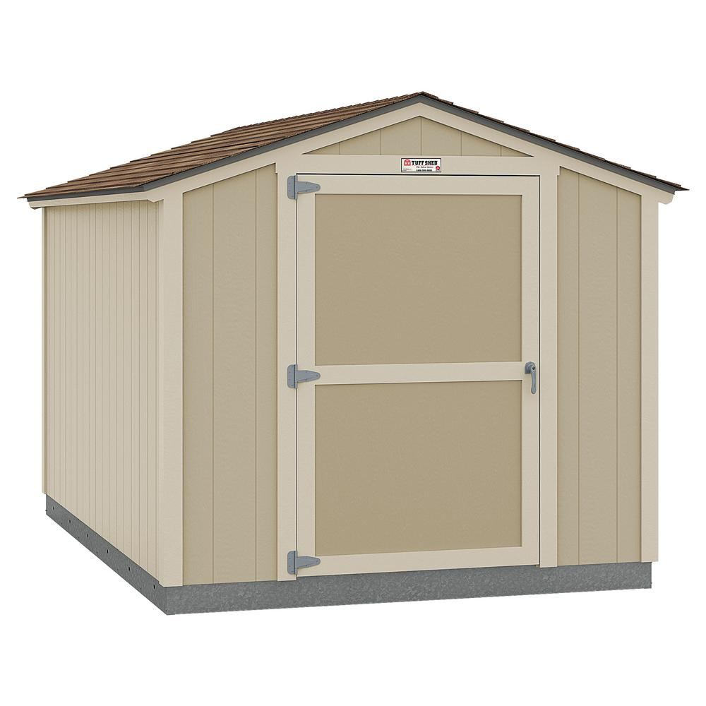 Tuff Shed Installed The Tahoe Series Standard Ranch 8 ft. x 12 ft. x 7 ft. 10 in. Un-Painted Wood Storage Building Shed, Browns / Tans -  8x12 SR E1 NP