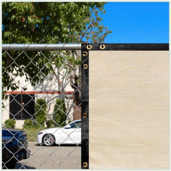Colourtree 5 Ft X 7 Ft Beige Privacy Fence Screen Hdpe Mesh Windscreen With Reinforced Grommets For Garden Fence Custom Size 5x7fs 3 The Home Depot