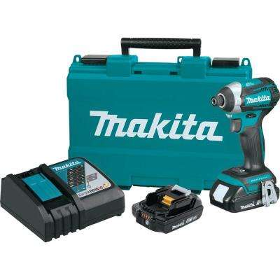 18-Volt LXT Compact Lithium-Ion Brushless 1/4 in. Cordless Quick-Shift Mode 3-Speed Impact Driver w/ (2) Batteries 2.0Ah