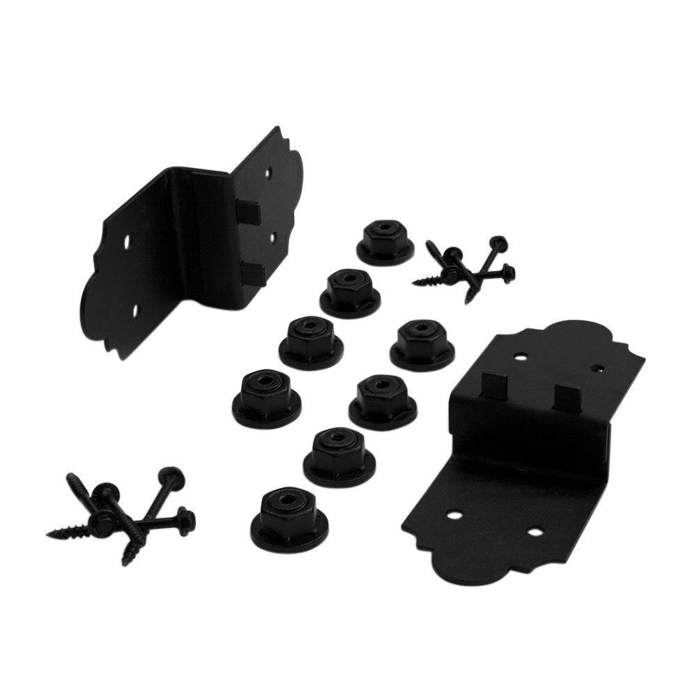 8 in. x 3-1/4 in. x 2 in. Black Galvanized Steel