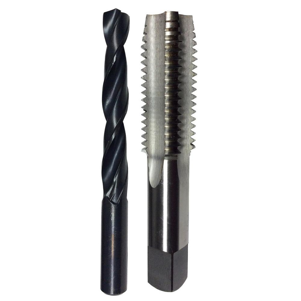 #1-72 High Speed Steel Tap and #53 Drill Bit Set (2-Piece)