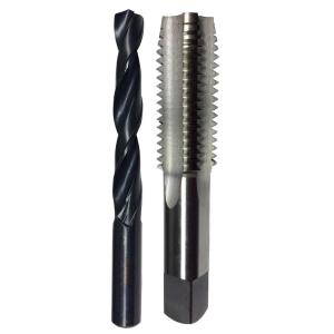 Drill America 7/16 inch -20 High Speed Steel Tap and 25/64 inch Drill Bit Set (2-Piece) by Drill America