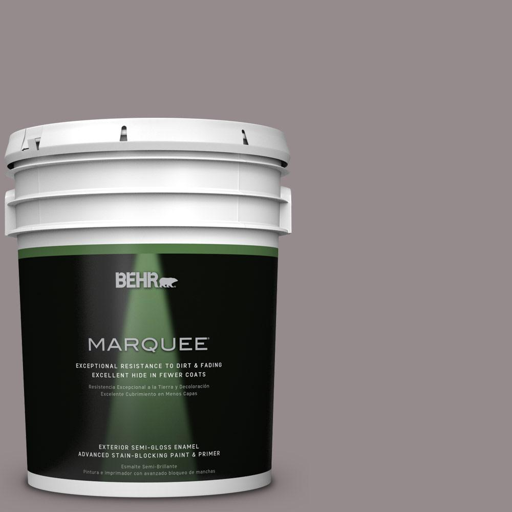 5 gal. #T18-03 Graylac Semi-Gloss Enamel Exterior Paint