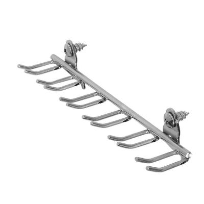 DuraHook 8-1/8 in. W 7/16 with 13/16 in. I.D. Zinc Plated Steel Multi-Prong Tool/Wrench Holder for DuraBoard (5-Pack)