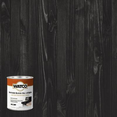1 pt. Ebony Butcher Block Oil (4-Pack)