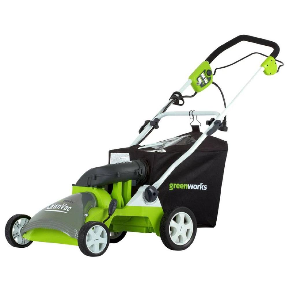 Green Works 16 in. 14 amp Corded Lawn Vac-DISCONTINUED