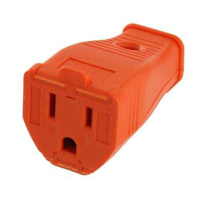 15 Amp 125-Volt 3-Wire Grounding Connector, Orange