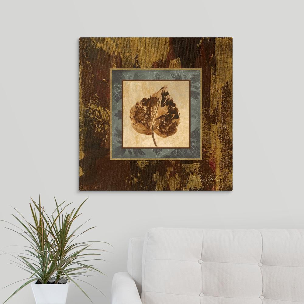 "GreatBigCanvas ""Autumn Leaf Square I"" by Silvia Vassileva Canvas Wall Art"