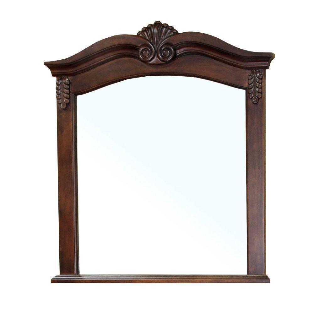 Ashby 39 in. L x 34 in. W Wall Mirror in Walnut